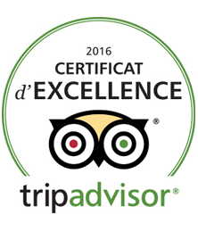 Tripadvisor : certificat d'excellence